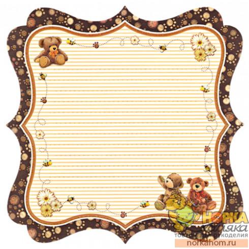 "Фигурная бумага для скрапа ""Медведи"""