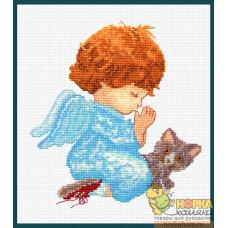 Ангелок с котенком