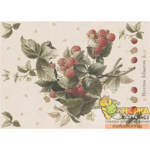 """Декупажная карта """"Rubus Idaeus"""""""