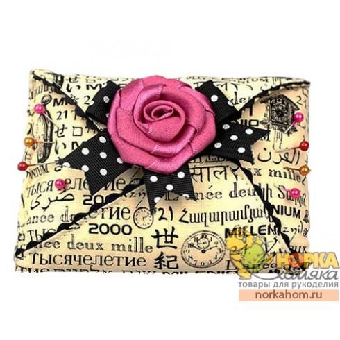 Игольница. Конверт с розой
