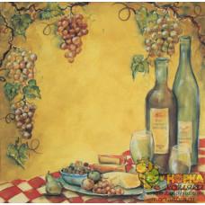 """Бумага для скрапбукинга """"Вино и сыр"""""""