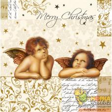 "Салфетка для декупажа ""Ангелы Рафаэля. Рождество"""
