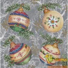 """Салфетка для декупажа """"Новогодние шары"""""""
