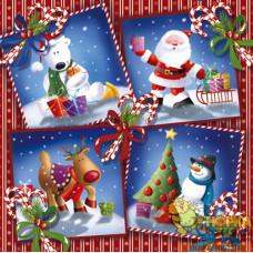 """Салфетка для декупажа """"Новогодние открытки"""""""