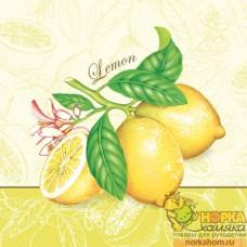 "Салфетка для декупажа ""Ветка лимона"""