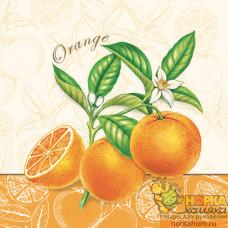 "Салфетка для декупажа ""Ветка апельсина"""