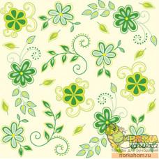 "Салфетка для декупажа ""Цветы кантри. Зеленые"""