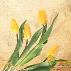 "Салфетка для декупажа ""Желтые тюльпаны"""
