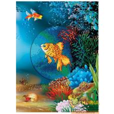 """Открытка """"Подводный мир. Золотая рыбка"""""""