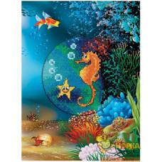 """Открытка """"Подводный мир. Морской конек"""""""