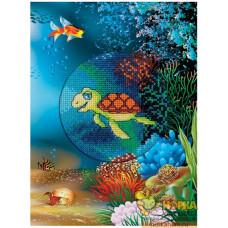"""Открытка """"Подводный мир. Черепашка"""""""