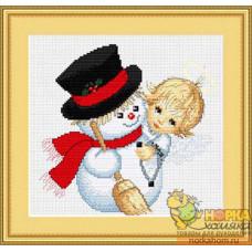 Ангелочек и снеговик