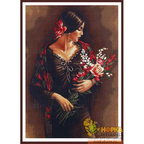 Испанка с цветами