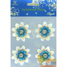 """Бумажные цветы-брадсы """"Свадьба I"""""""