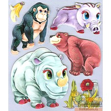 "3D наклейки ""Зоопарк"""